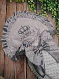 Конверт для новонароджених з вишивкою Корони, фото 6