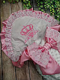 Конверт для новонароджених з вишивкою Корони, фото 9