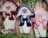 Конверт для новонароджених з вишивкою Корони, фото 10