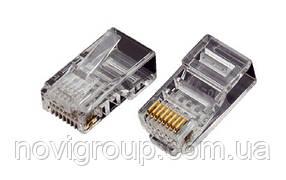 Конектор OK-net utp RJ-45 Кат.5e UTP 50U упаковка 100 шт. ціна вказана за шт.