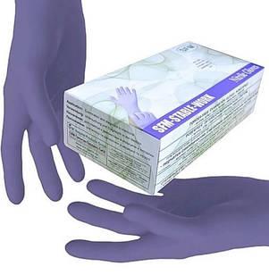 Нітрилові рукавички SFM подвійна упаковка р. S 200 шт Фіолетові (MAS40113)