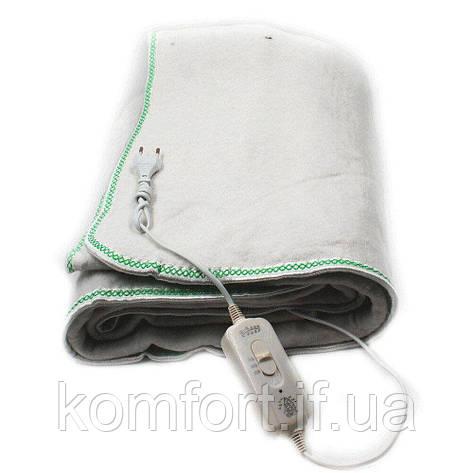 Электропростынь electric blanket 150*120 WHITE, электрическая простынь одеяло с регулятором температуры, фото 2
