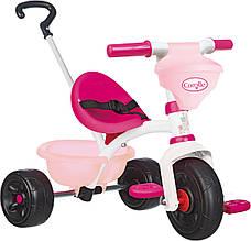 Детский велосипед с ручкой Smoby Королле Corolle Be Fun розово - белый 740329