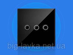 Szaoju сенсорний вимикач з підсвічуванням 3 кнопки, Чорний