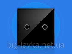Szaoju сенсорний вимикач з підсвічуванням 2 кнопки Чорний