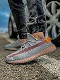 Кроссовки мужские 18411, Adidas Yeeze Boost 350, серые, [ 42 43 44 45 46 ] р. 42-27,0см., фото 3