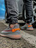 Кроссовки мужские 18411, Adidas Yeeze Boost 350, серые, [ 42 43 44 45 46 ] р. 42-27,0см., фото 4