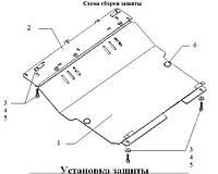 Защита двигателя Ситроен С1 (стальная защита поддона картера Citroen С1)