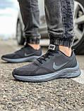 Кроссовки мужские 18471, Nike Zoom Winflo 8 (TOP), темно-серые [ 44 45 ] р.(43-28,0см), фото 2