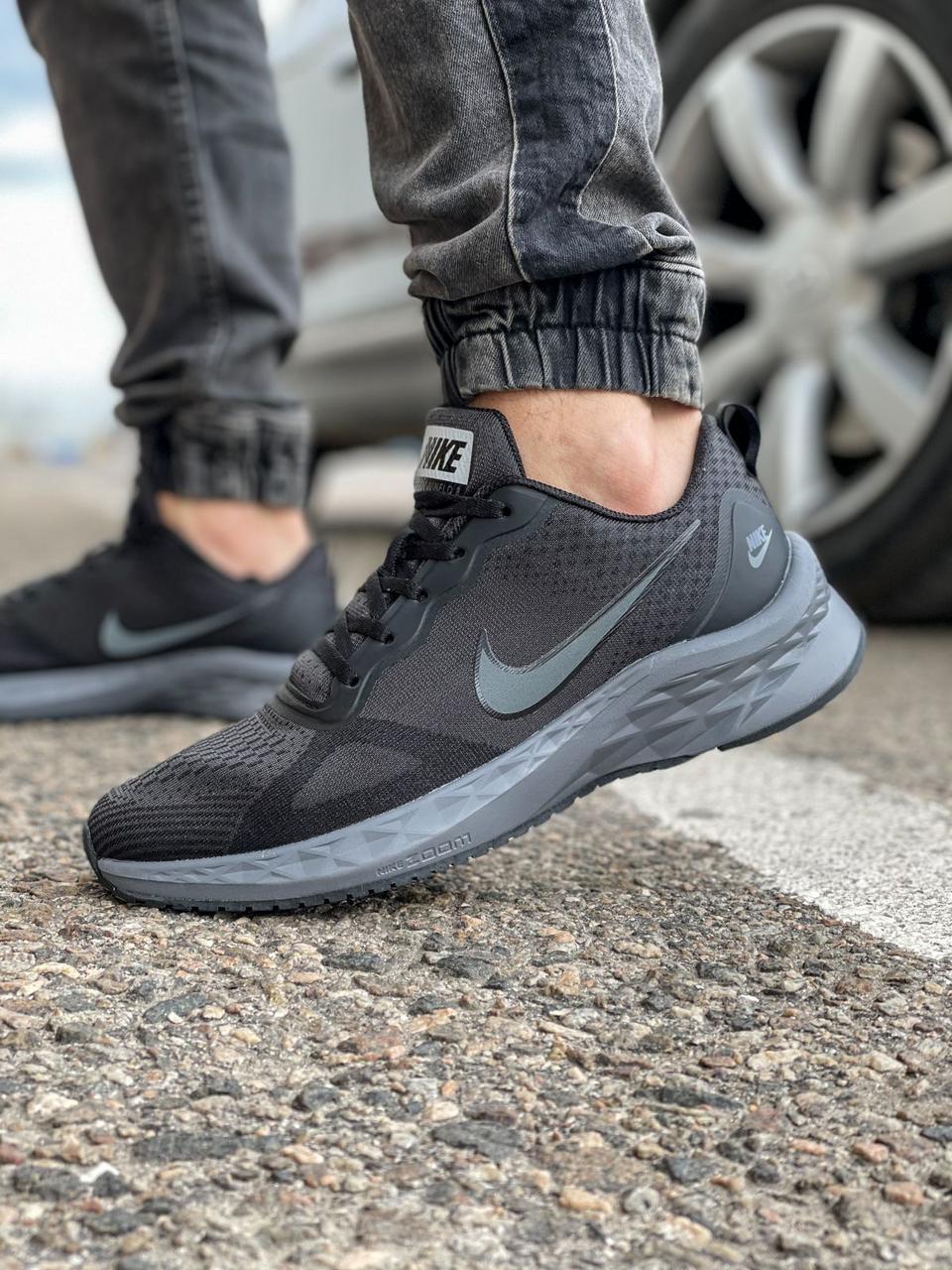 Кроссовки мужские 18471, Nike Zoom Winflo 8 (TOP), темно-серые [ 44 45 ] р.(43-28,0см)