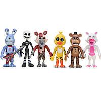 Ігровий набір Аніматроніки 6 персонажів П'ять ночей у Фредді, рухливі, висота 9 см - Five nights at freddy's