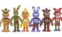 Ігровий набір П'ять ночей з Фредді 6 аниматроников з аксесуарами рухливі висота 9 см - Five nights at