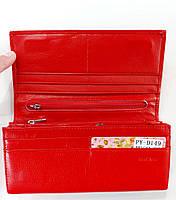 Женский кожаный кошелек Balisa D149 красный Кожаный женский кошелек Балиса закрывается на магнит, фото 2
