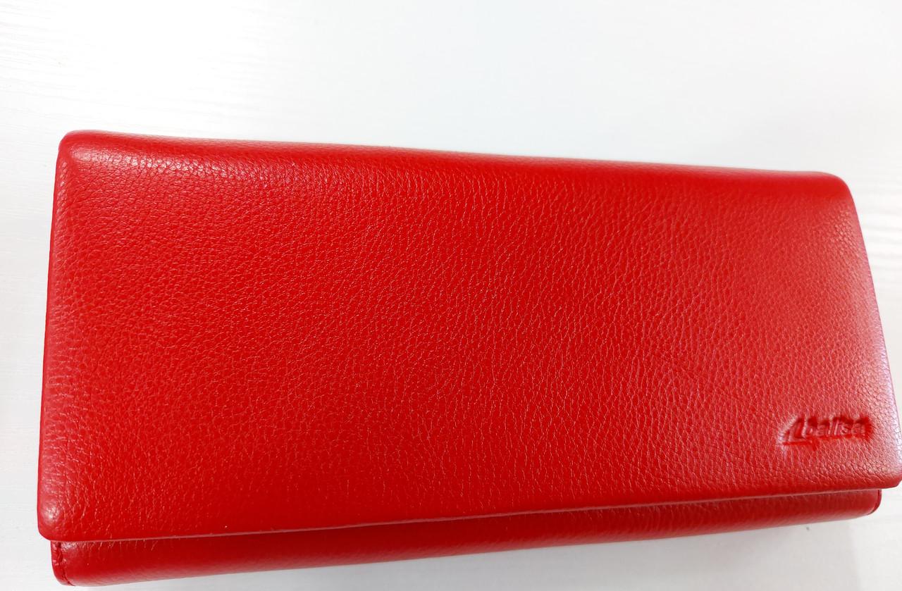 Женский кожаный кошелек Balisa D149 красный Кожаный женский кошелек Балиса закрывается на магнит