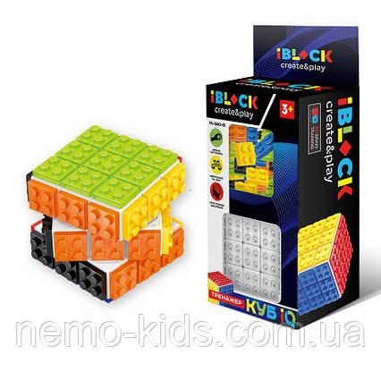 Кубик логика-конструктор iblock, кубик Рубика с деталями конструктора, для развития.