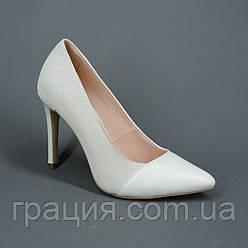 Туфли женские кожаные классические на шпильке