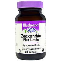 Зеаксантин плюс лютеин, Bluebonnet Nutrition, 60 мягких желатиновых капсул
