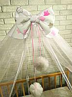 Балдахін на кроватку (тканина бязь Польська)