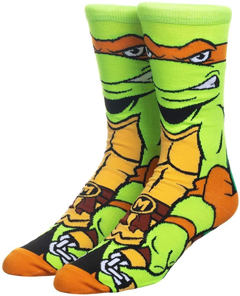Прикольні високі чоловічі шкарпетки з принтом Мікеланджело
