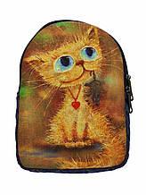Джинсовый рюкзак Кися с мышкой