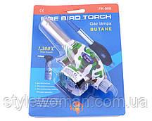 Автоматичний газовий пальник Fire Bird Torch FK-888 (зелений, хакі)
