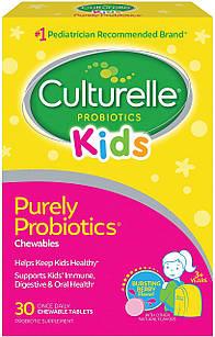 Culturelle Kids Chewable Daily Probiotic пробиотик для детей 3+ с Lactobacillus rhamnosus GG  (5 млрд КОЕ) 30т