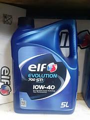 Полусинтетическое моторное масло Elf evolution 700  STI  10w-40 5L.