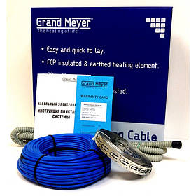 Двужильный нагревательный кабель в стяжку Grand Meyer 1,5 - 2,5 кв.м THC20- 15 м