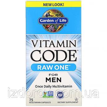 Garden of Life, Vitamin Code, Raw One, натуральные витамины для мужчин, Multi Vitamin for Men, 75капсул. США