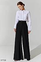 Трендовые брюки-палаццо черного цвета XS S M L