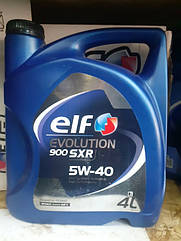 Синтетическое моторное масло Elf Evolution 900 SXR sae 5w-40 4L  Франция