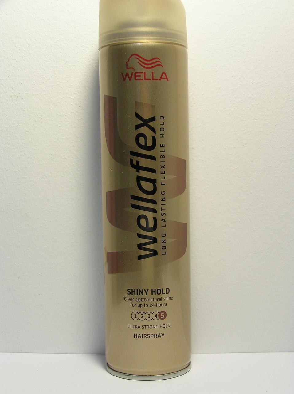 Лак для волос Wellaflex 250 мл. (Велла Флекс блеск и фиксация)