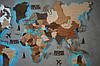 Деревянная карта мира на стену CraftBoxUA с led подсветкой, фото 7