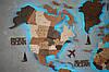 Деревянная карта мира на стену CraftBoxUA с led подсветкой, фото 9