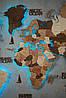 Деревянная карта мира на стену CraftBoxUA с led подсветкой, фото 8