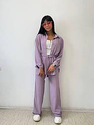 Жіночі брюки, вільний крій 52, пудра