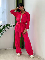 Жіночі брюки, вільний крій 52, червоний