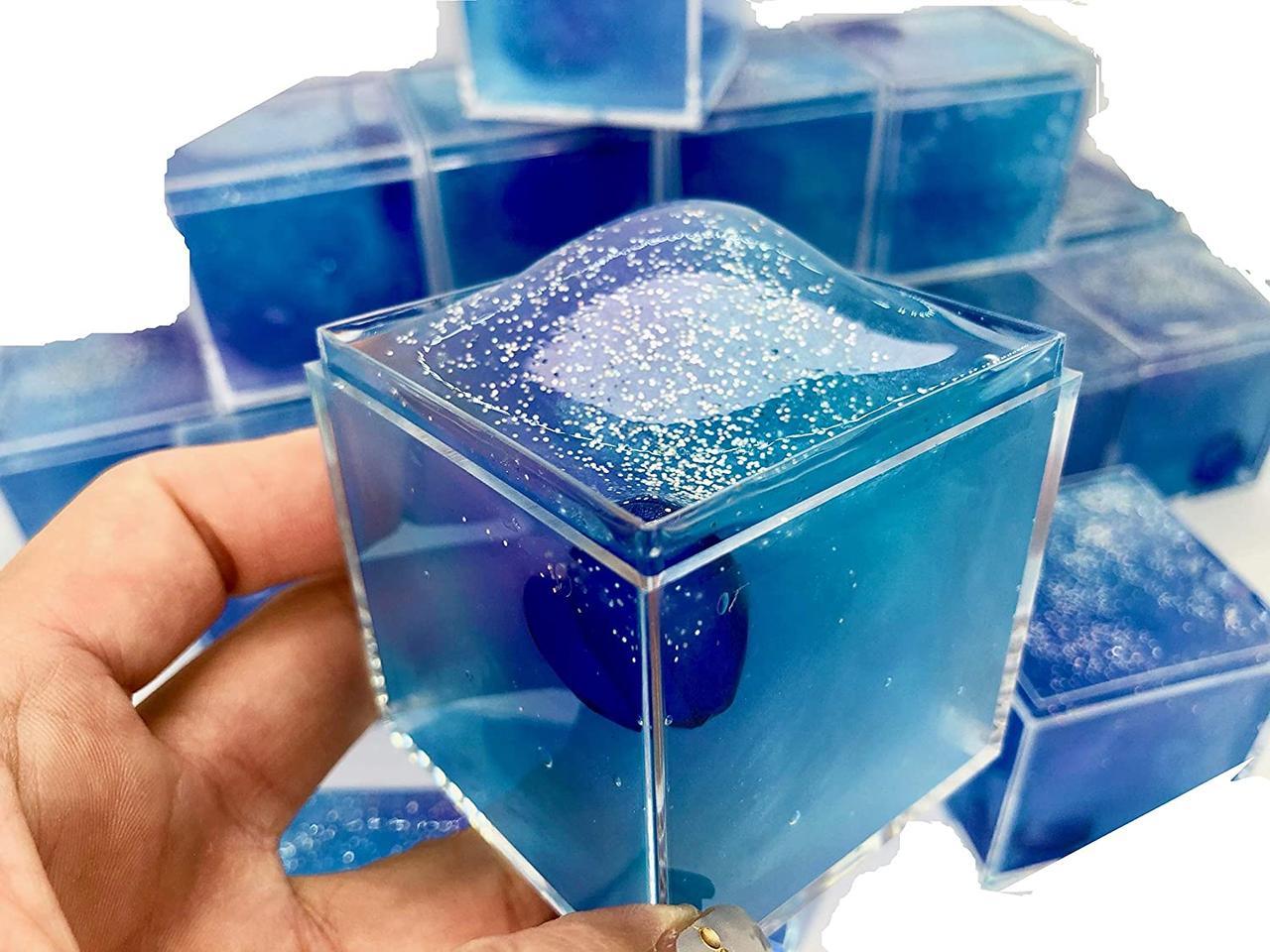 Galaxy Cube clear слайм
