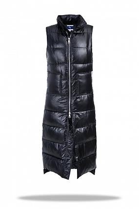 Жилетка длинная женская Freever SF 20508 черная, фото 2