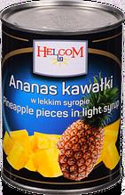 Ананас консервированный кусочками в сиропе Ananas Helcom (Польша), 565г ж/б