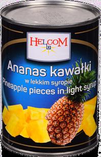 Ананас консервований шматочками в сиропі Ananas Helcom (Польща), 565г ж/б