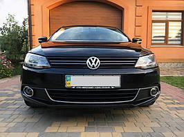 Volkswagen Jetta 2011-2018 рр .. Накладка на противотуманки (2 шт., нерж) OmsaLine - Італійська нержавійка