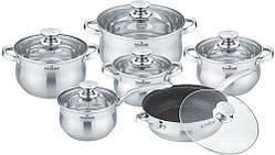 Набор посуды Maxmark из 12 предметов (MK-BL2512A)