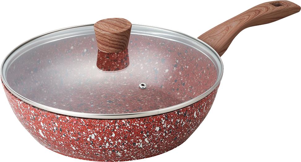 Сковорода Maxmark с крышкой Granite 26 см с крышкой (MK-FP5026G)