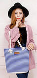 Жіноча сумка в смужку. Пляжна сумка. Жіноча пляжна сумка, фото 2
