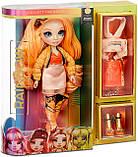 УЦЕНКА! Оранжевая кукла Rainbow High Poppy Rowan Orange Clothes - Рейнбоу Хай Поппи Роуэн 569640, фото 5