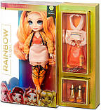 УЦЕНКА! Оранжевая кукла Rainbow High Poppy Rowan Orange Clothes - Рейнбоу Хай Поппи Роуэн 569640, фото 6