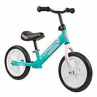 Беговел детский CORSO от 3 лет колеса 12 дюймов велосипед без педалей Велобег Бирюзовый