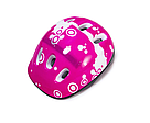 Ролики детские с защитой и шлемом четырехколесные для девочки с подсветкой размер М 34-37 Розовые, фото 2