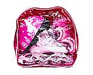 Ролики детские с защитой и шлемом четырехколесные для девочки с подсветкой размер М 34-37 Розовые, фото 4